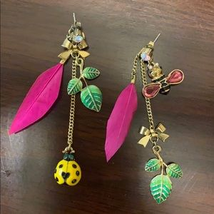 Betsey Johnson Statement Earrings